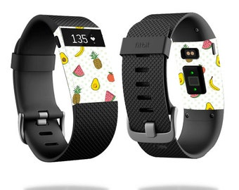 Skin Decal Wrap for Fitbit Blaze, Charge, Charge HR, Surge Watch cover sticker Fruit Friends