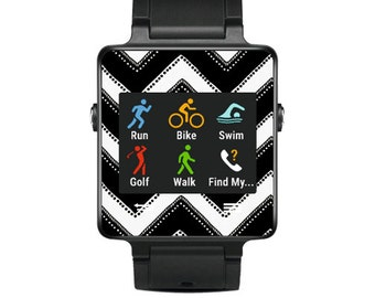 Skin Decal Wrap for Garmin Vivoactive Forerunner, Vivoactive Forerunner Hr Watch cover sticker Chevron Style