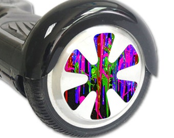 Skin Decal Wrap for Hoverboard Balance Board Scooter Wheels Drips