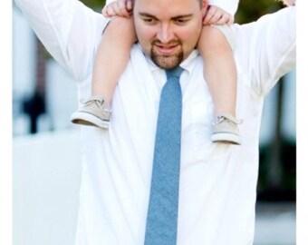 Custom Monogrammed Chambray Tie