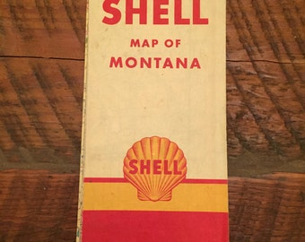 Vintage Shell gas station maps - Many available
