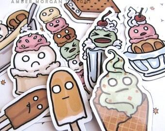 Cute Food Magnet Set Refrigerator Magnet Ice Cream Fridge Magnet  Kawaii Cubicle Decor Kawaii Magnet Kawaii Faces Funny Ice Cream