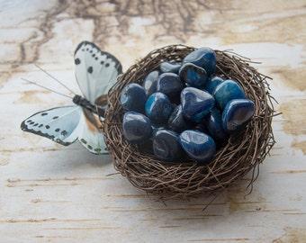Tumbled Dumortierite Gemstones - Healing Crystal - Chakra stone - Energy Healing - Clairporium Rocks