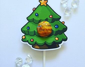 Christmas tree lollipop holders