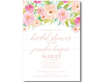 PRINTABLE Bridal Shower Invitation, Floral Bridal Shower Invitation, Printable Invitation, Bridal Shower, Bridal Shower Printable #CL131