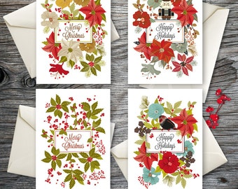 Holiday Cards Set, Blank Holiday Cards, Christmas Greeting Card, Greeting Card Set, Holiday Greeting Card, Card Collection, Card Set No.151