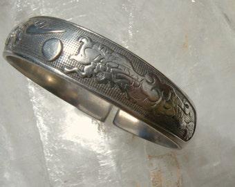 Dragon & Phoenix Bracelet Silver and vintage.