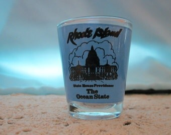 Vintage shot glass from Rhode Island