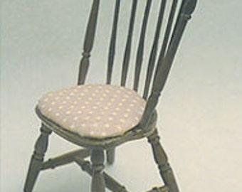 CHRYSNBON DOLLHOUSE MINIATURES Duxbury Chair Mini Kit #CB2400-CB2400BK