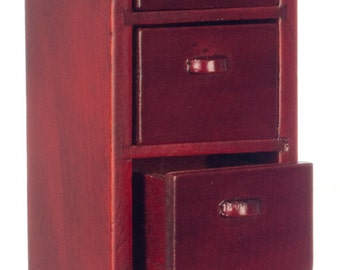 Dollhouse Miniature 1:12 Scale 4-drawer File Cabinet #T3561A-T6561A