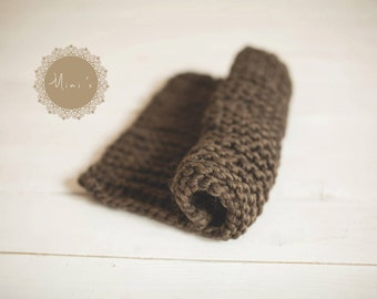Chunky knitted blanket  wool baby blanket newborn photography props