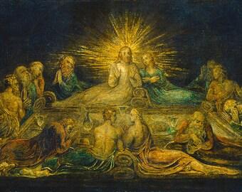 William Blake: The Last Supper. Fine Art Print/Poster. (003551)