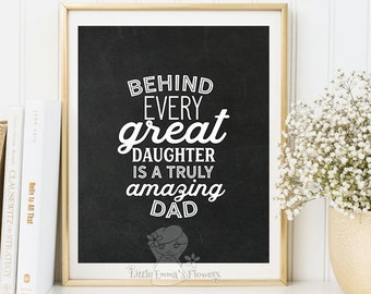 Truly amazing dad print father's day quote Printable Fathers day gift print wall art decor gift for dad printable wall art home 3-120