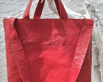 Shopping bag, shopper, Shoppingbag, dark red