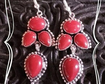 Argent925 coral earrings