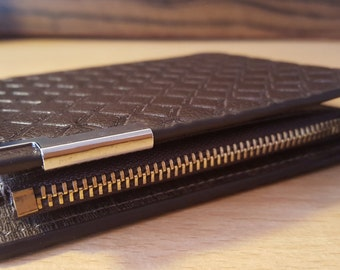 Gift for men. Multifunction wallet.Stylish leather wallet. Inside pockets for bills. Zipper pocket for coins.