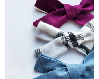 Wide Hand Tied Bows