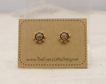 Little Helm Earring 2 Colors Available (non-allergic stainless steel stud)