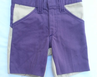 Vintage Billy the Kid Purple Denim Jeans Two Tu Tone Shorts Pants Bottoms Children Child Toddler 3T
