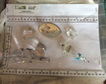Selection of glass and crystal animal ornaments