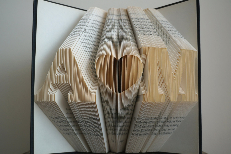 Wedding Art Gifts: Folded Book Art Anniversary Gift 1st Wedding Anniversary