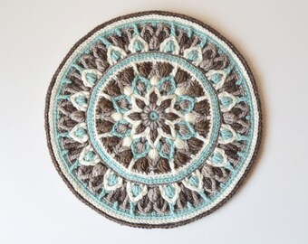 Crochet Mandala Potholder PATTERN - overlay crochet PDF - table decoration - Instant download
