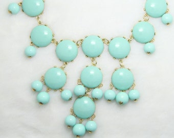 JCrew Inspired Mint Bubble Statement Necklace, Bib Necklace, Statement Necklace FREE SHIPPING!