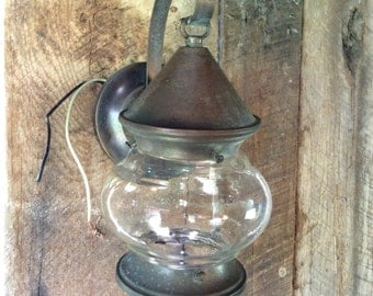 Vintage Lantern, Vintage Electric Lantern, Vintage Porch Light, Wall Mounted Lantern