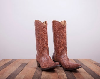 Womens boots -Leather boots -Cowboy Boots -Womens cowboy boots -Leather Cowboy Boots -Handmade Boots Shoes -Brown leather boots -Brown boots