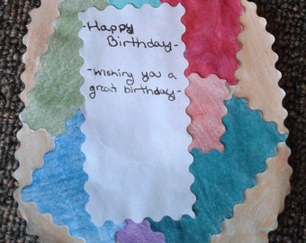 One Side Decorated Patchwork Card
