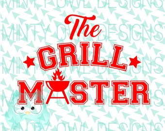 Cricut SVG - Cutting Files - Silhouette - Grill Master - BBQ - Barbecue - Pit Master - Summer - Apron - Tshirt
