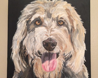 Pet Painting Custom dog painting pet portrait