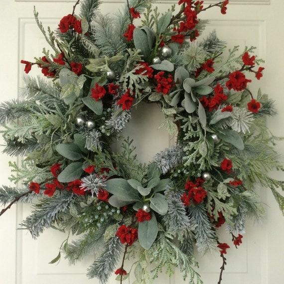 Christmas Wreath Winter Wreath Holiday Wreath Elegant Holiday