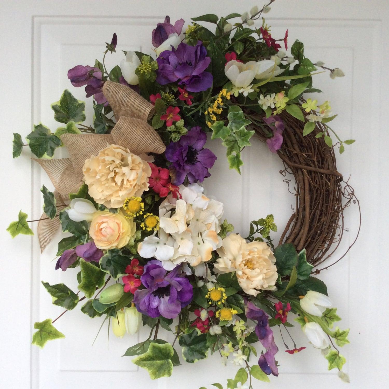 Spring Wreaths Easter Wreath Tulip Wreath Front Door