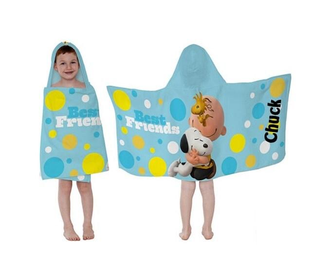 Peanuts Best Friends Hooded Towel Wrap - Personalized