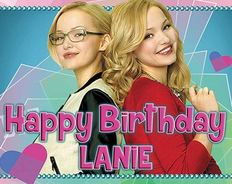 Liv and Maddie Birthday Banner - personalized