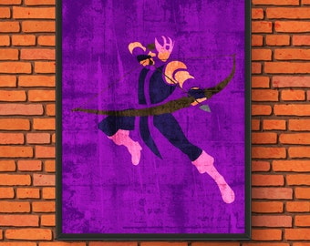 Marvel Minimalism; Series 2: Hawkeye Semi-Gloss Print
