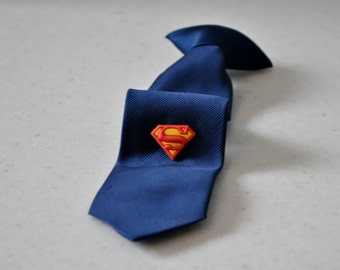 Superhero Pin,Superman Tie Tack,Superman Accessory,Superhero Clip,Children Boy Kids Accessories,Boutique