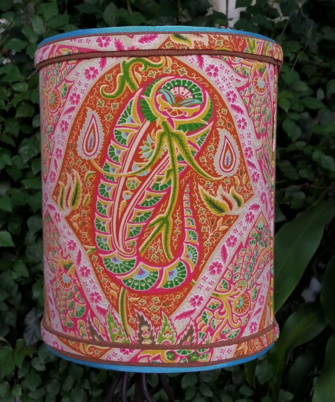 Lamp Shade Drum Pink Orange Green Tommy Bahama