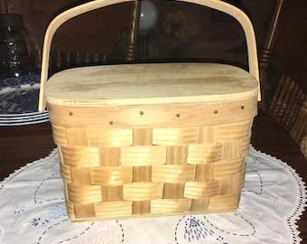 Vintage Basketville Putney Vermont Individual Lunch Basket
