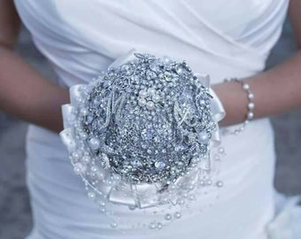 Full Brooch Bridal Wedding Bouquet Made To Order