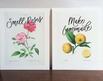 Vintage Botanical Art Diptych - Extras by Alaina