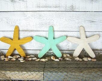 Starfish Decor Starfish Wall Decor Beach Christmas Decor Star Fish Wall Decor Beach Lovers Gift Wood Starfish Rustic Beach Decor Decoration