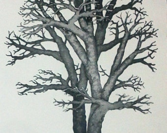 Arbre I (etching, embossing)