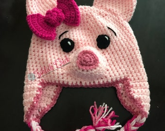 Littly Miss Piggy Crochet Hat