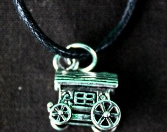 Handmade Gypsy Wagon Necklace.