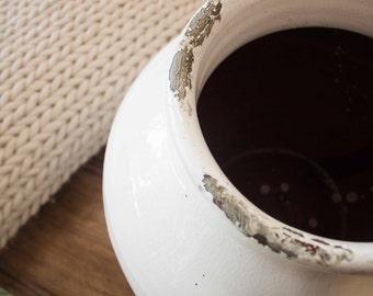 Hand-made ceramic vase