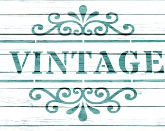 Re-usable Mylar Stencil VINTAGE, Furniture, Fabric, French, Vintage, Shabby Chic