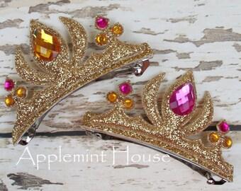 Belle Crown Hair Clip/Disney Belle Hair Clip/Disney Hair Pin/Princess hair Clip/Sleeping Beauty Hair Clip/Belle Crown