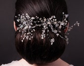 SALE!  25% off!  Eris - Versatile Tiara Hair Vine, crystals, freshwater pearls and silver wire, ideal for weddings, bridal hair
